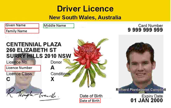 New South Wales Driver Licence