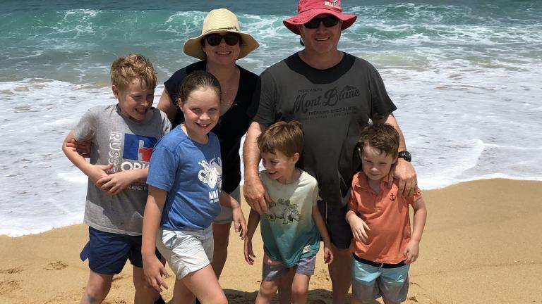 Street family: Maurie, Kate, Jack (11), Zoe (9), Tom (6), Sam (5)