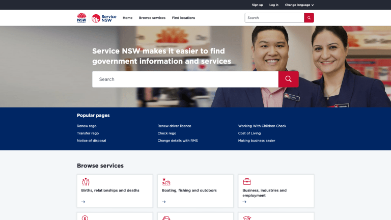 Change is coming - new and improved Service NSW website about to launch